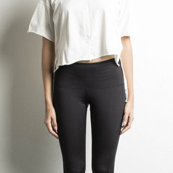 cropped trail tee / natural