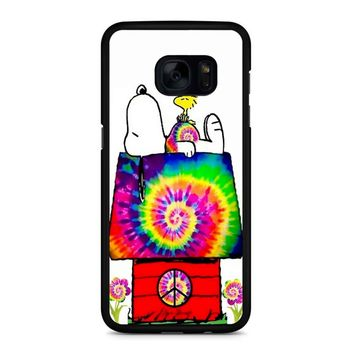 Snoopy And Woodstock Tie Dye Samsung Galaxy S7 Edge Case