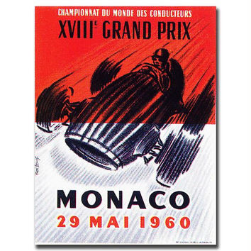 Monaco 1960 by George Ham-Gallery Wrapped 18x24 Canvas Art