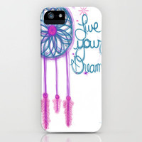 Live Your Dreams - White iPhone Case by jlbrady213 & KBY | Society6