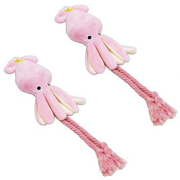Pink Legs The Octopus Cute Plush Stuffed  Rope Toys