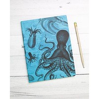 Cephalopods: Octopus & Squid Softcover Notebook - Lined