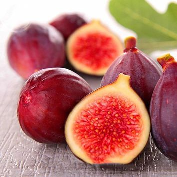 BELLFARM Rose Red Fig Ficus Carica Tree Fruits Seeds, 5 seeds, professional pack, red skin rose red inside sweet organic fruits