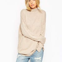 ASOS Tunic With High Neck In Cashmere Blend