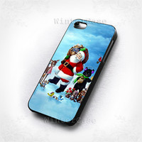 Christmas santa claus-photo print on hard plastic-iphone 4/4s case-iphone 5/5s/5c case-samsung galaxy s3-samsung galaxy s4