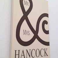 Mr. & Mrs. wood sign wedding anniversary gift