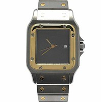 Cartier Santos Galbee swiss-automatic mens Watch W20011C4 (Certified Pre-owned)