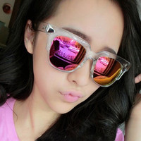 Alloy Inlay Quadrate Sunglasses