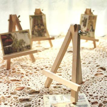 10pcs Hot Mini Wooden Art Holder Artwork Display Novelty Easels Drawing Boards For Beuaty Party Wedding Decoration