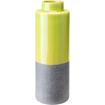 Yellow & Gray Stoneware Bottle, Small