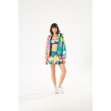 Tropical Macaw Quilted Coat