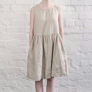 Tonic Relaxed Linen Dress - Natural