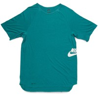 Nike SB Skyline Dri Fit Crew T-Shirt - Catalina/White