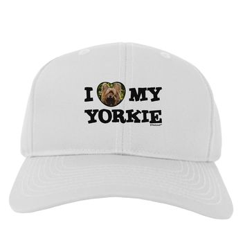 I Heart My Yorkie Adult Baseball Cap Hat by TooLoud