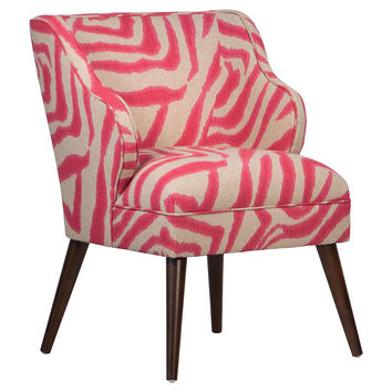 Kira Chair, Pink Zebra, Accent & Occasional Chairs