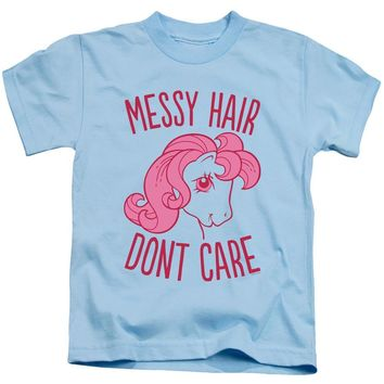 My Little Pony Boys T-Shirt Messy Hair Light Blue Tee