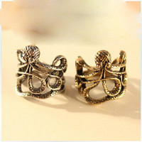 Vintage Personality Octopus Shaped Ring from MISSSU JEWELRY