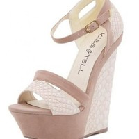 G2 Chic Women's Stylish Patterned Wedge