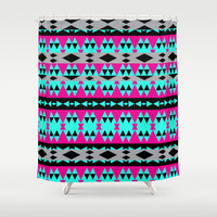 Mix #555 Shower Curtain by Ornaart