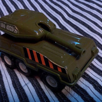 Vintage Buddy L Army Tank 1970's Toy Japan Metal Tin