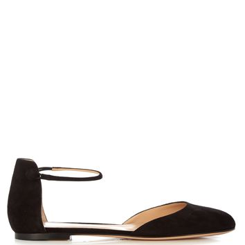 Ankle-strap suede flats | Gianvito Rossi | MATCHESFASHION.COM US