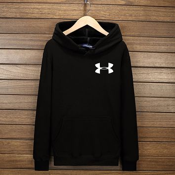 UNDER ARMOUR Fashion Women Men Lover Hoodie Top Sweater Black I-YSSA-Z