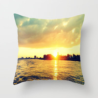 Sunset Off The Water Throw Pillow by 2sweet4words Designs