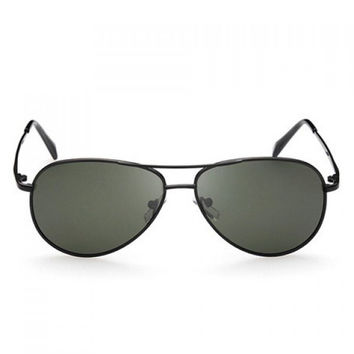 Fashionable Solid Color Alloy Frame Sunglasses For Women