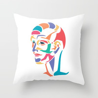 Abstract head Throw Pillow by g-man