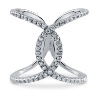 "Sterling Silver Cubic Zirconia CZ Criss Cross ""X"" Ring 0.87 ct.twBe the first to write a reviewSKU# R948-01"