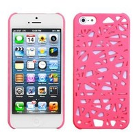 eFuture(TM) Hot Pink Bird Nest Rear Hard Case Cover fit for the new Iphone5 5G