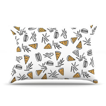 "Vasare Nar ""Burgers & Pizza"" Food Pillow Case"