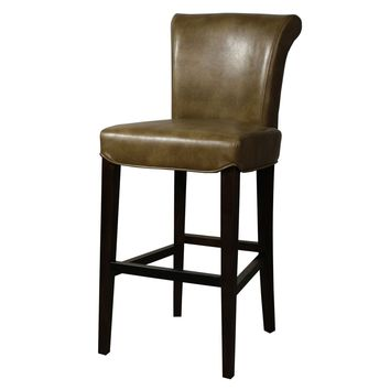 Bentley Bonded Leather Bar Stool, Molasses