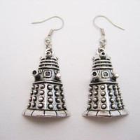 Dalek  Earrings Doctor Who Earrings Alien Earrings  Whovian Gifts Under 20 Doctor Who Jewelry Dalek Jewelry Exterminate