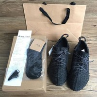 350 Boost Sneakers Training Shoes Fashion Women and Men Running Sports Shoe Low Kanye West Boots (Keychain+Socks+Bag+Receipt+Box)-2