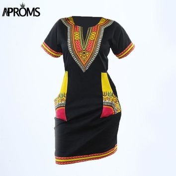 Sexy Casual African Print Sun Dresses