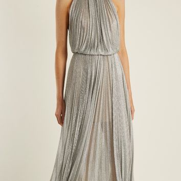 Ballari pleated halterneck mesh dress | Maria Lucia Hohan | MATCHESFASHION.COM US
