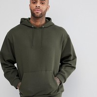 ASOS Oversized Hoodie In Khaki at asos.com