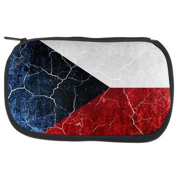 DCCKU3R Czech Republic Flag Distressed Grunge Travel Bag