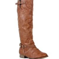 SALE-Tan Knee High Riding Boots