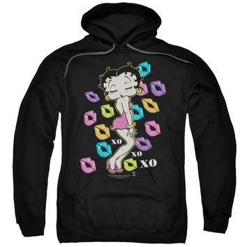 Betty Boop-Tripple XO - Black - Adult & Youth Pull Over Hoodies