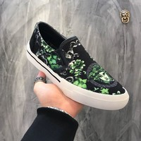 Versace Print Slip On Sneakers Dsu6775 - Best Online Sale