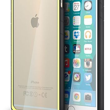 iPhone 6 / 6s Case, CellEver [Hybrid Flex] Flexible Shock-Absorbing TPU Bumper Case with Anti-Scratch Clear Back for iPhone 6, iPhone 6S (4.7 inch) - Yellow