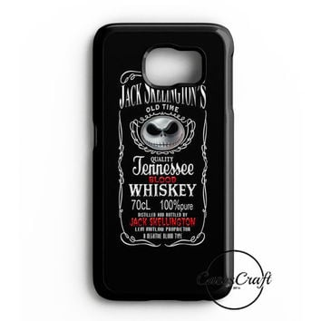 Jack Skellington Whiskey Daniels Samsung Galaxy S6 Edge Case