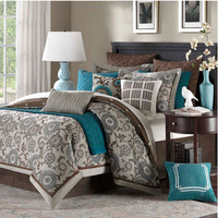 Hampton Hill JLA10-498 Bennett Place Ten-Piece King Comforter Set - (In No Image Available)
