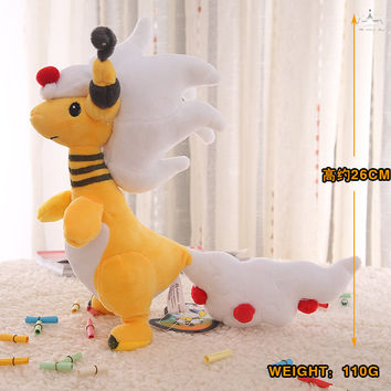 Quality Plush toy doll of Denryu Ampharos Pocket Monster\ Pokemon(exporting grade)