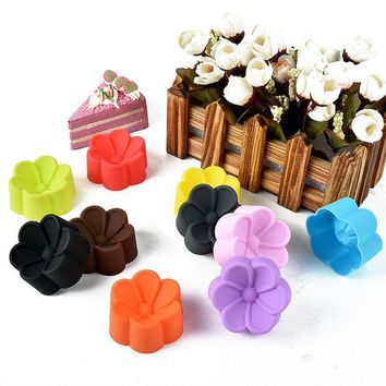 VONC1Y 5cm Begonia flowers Shaped Candy Resin Molds, Silicone DIY Soap Mold, Silicone Cake Mould, Fondant Cake Decorating Tools