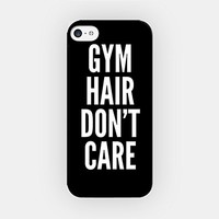 for iPhone 6/6S - High Quality TPU Plastic Case - Gym Hair Don't Care - Gymnastic - Funny - Hipster