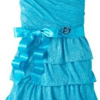My Michelle Big Girls' Multi Tier Dress, Blue, 12