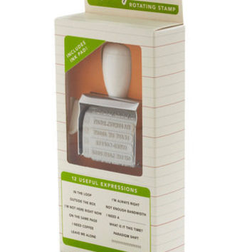 Office Speak Rotating Stamp Set | Mod Retro Vintage Stationery | ModCloth.com